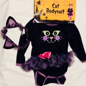 Infant Cat Bodysuit and Headband Halloween Costume